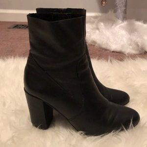 Steve Maddox Miranda Black Leather Booties